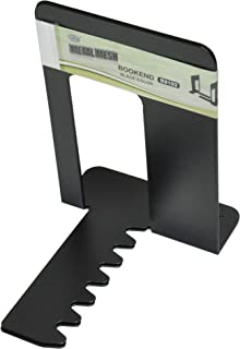 FIS Bookends Metal Body, Pack of 2 Pieces, Black Color, 165 x 127 x 165 mm Size - FSBEB8102