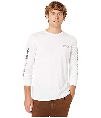 RVCA Beware Long Sleeve T-Shirt (White) Men