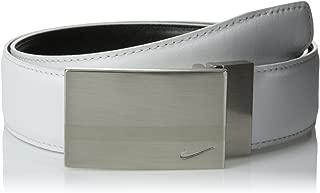Nike Men's SG Reversible Silver-Tone Plaque Belt
