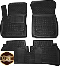 Custom Fit All Weather Floor Liners Carmats Black Rubber Floor Mats 1st & 2nd Row 5 pcs/Set for Opel/Vauxhall Insignia Gen2 2017-2019