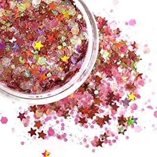 Chunky Glitter Makeup ✮ Starlightshine Cotton Candy 6g ✮ Festival Cosmetic Beauty Makeup Face Body Glitter Hair Nails Rave Holographic Glitter