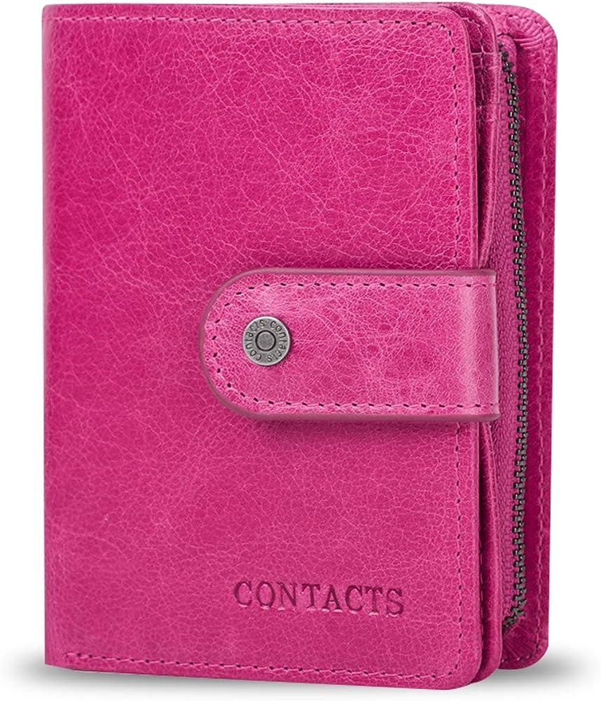 Fandare, portafoglio, porta carte di credito unisex, in pelle, con blocco rfid AK-BY007