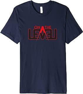 On The Level Black and Red Masonic Logo T-Shirt