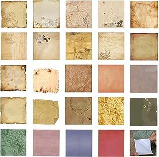 24 Feuilles Vintage stickers Scrapbooking,Papier Scrapbooking,Papier Autocollant,Scrapbooking Materiel,DIY Décoration Rétr...