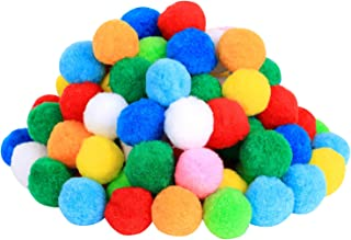 Very Large Assorted Pom Poms for DIY Creative Crafts Decorations, Assorted Colors (100Pack 2 Inch)