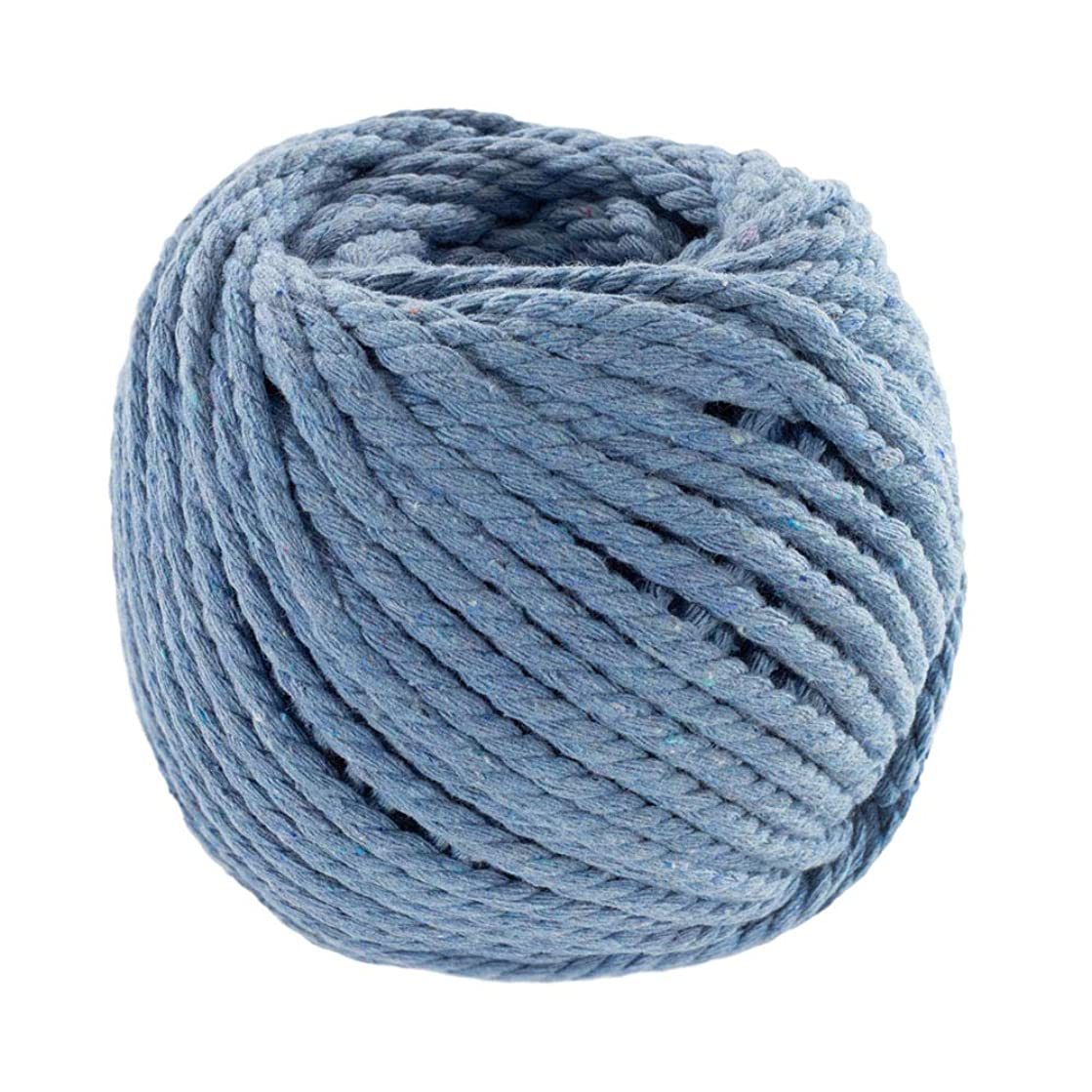 Craft County DIY Crochet, Knitting, and Macramé Cotton Rope – for Handmade Decorations, Wall Hangings, Plant Hangers, and Dream Catchers (Ceil Blue, 5mm X 50 Meters)