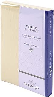 G. Lalo Verge De France Cards and Envelopes, Ivory