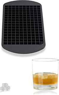 Relaxdays Silicone Ice Cube Tray, for 1 cm Ice Cubes, BPA-free, For Cocktails, Ice Cube Mould, HxWxD: 1 x 23.5 x 12 cm, Black