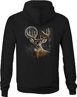 Zip Up Hoodie Whitetail Deer Antlers Hooded Sweatshirt for Men