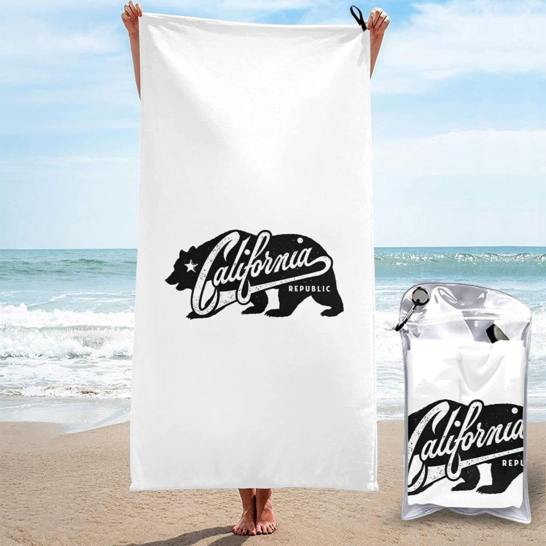 California Republic Bear Quick Dry Towel Beach T Microfiber High quality quality assurance Bath