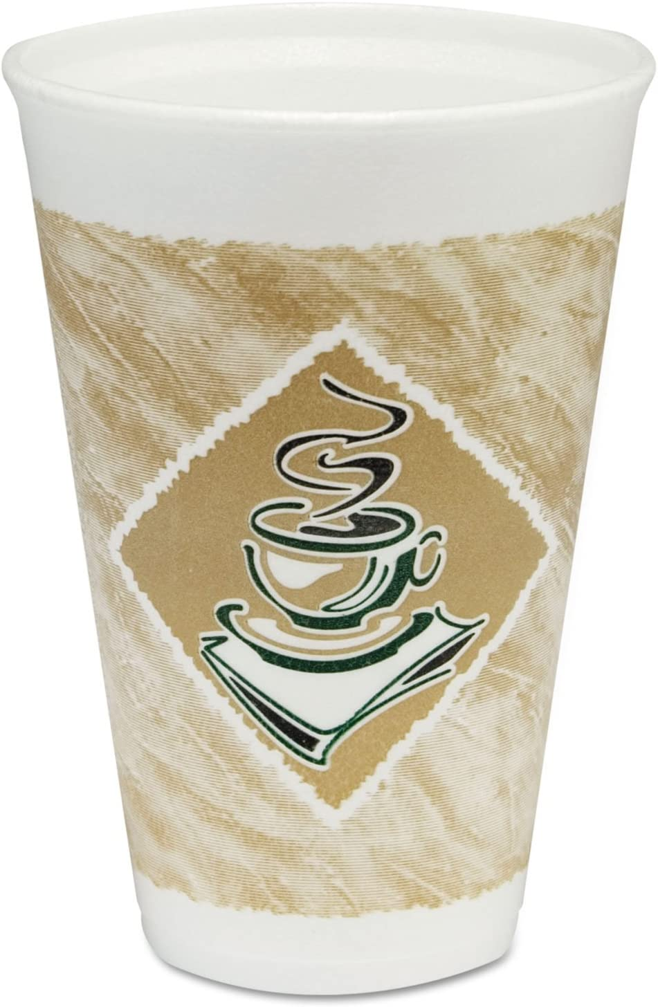 Free shipping anywhere in the nation Bargain sale New - Foam Hot Cold Cups 16 Brown oz Green w 100 White amp;amp;