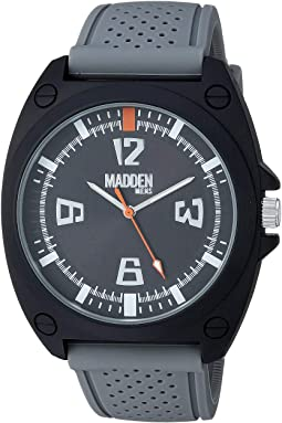 Madden Men Analog Silicone Strap Watch with Bead and Woven Bracelets SMMS020