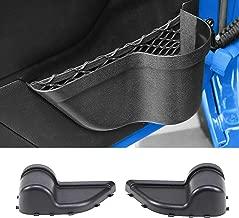 Upgraded Front Door Pockets Storage Side Insert Organizer Box for Jeep Wrangler 2011-2018 JK JKU 2/4-Door, Replacements Interior Net Accesories, Black