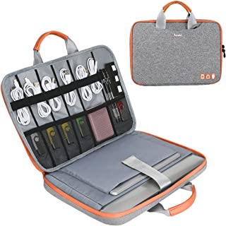 13-13.3 inch Laptop Sleeve with Electronic Accessories Storage Bag Large Capacity Organizer 10.2'' iPad Carry Business Cas...