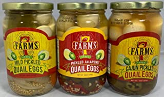 7 Farms Pickled Quail Egg Variety Pack of 3