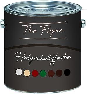 The Flynn einzigartige Holzschutzfarbe schnelltrocknend und wetterbeständig - Schutz vor Verwitterung in Weiß, Beige, Schwedenrot, Grün, Dunkelbraun, Rotbraun und Schwarz 2,5 L, Grün