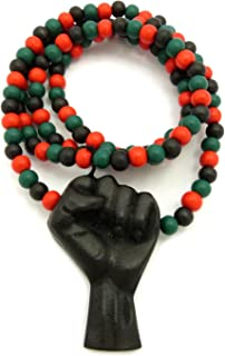 Best black power fist necklace Reviews