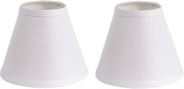Urbanest 100% Linen Chandelier Lamp 6-inch Regular dealer Hardback Shades Cli We OFFer at cheap prices