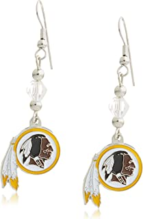 Siskiyou NFL Crystal Dangle Earrings