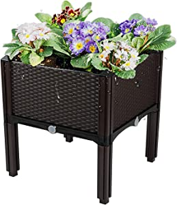 Raised Garden Bed   Self Watering Planter Boxes Outdoor Raised, Planter Boxes Outdoor,Raised Patio Planter