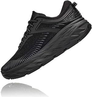 HOKA ONE ONE Women's Bondi 7 Running Shoe, Black/Black, 10