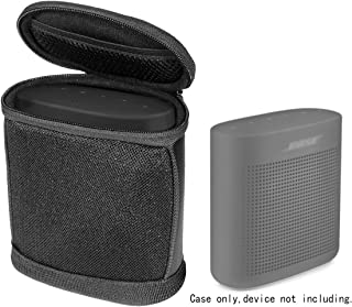Case for Bose SoundLink Color Bluetooth Speaker II and Bose SoundLink Color Bluetooth Speaker, Portable Sound Through Design, Tailor Made and Easy to go Carabiner, Light Weight (Black with Black Zip)