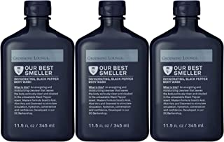 Grooming Lounge Best Smeller Men's Hydrating, Body Wash Multi-Pack. Moisturizing Male Wash for All Skin Types. Paraben-Free, 11.5 oz, 3-Pack