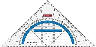 Brunnen 104954090 Peak 4 Compas /à r/églage rapide dans un /étui en plastique incassable avec couvercle transparent Format azur CodePeak 4 Pour cercles jusqu/à /Ø 38 cm
