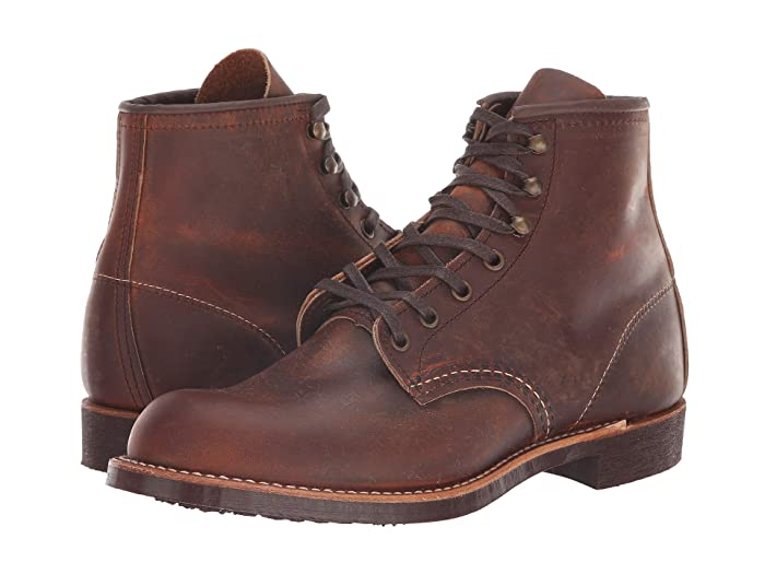 Men's Vintage Workwear Inspired Clothing Red Wing Heritage Blacksmith Copper Rough  Tough Mens Lace up casual Shoes $299.99 AT vintagedancer.com