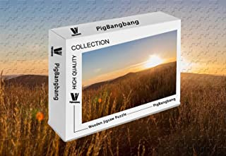 PigBangbang,Intellective Games Basswood Colorful- Sunset in South Australia - 500 Piece Jigsaw Puzzle (20.6 X 15.1 '')