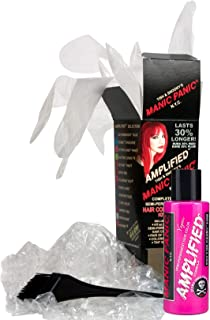 Manic Panic Cotton Candy Pink Amplified Hair Coloring Kit, Vegan Semi-Permanent Pink Hair Dye Cream, 3X Pigments & Lasts 30% Longer Than Classic Voltage (6-8 Weeks), PPD & Ammonia-free - Ready to Use
