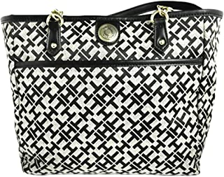 Tommy Hilfiger Women's Chain Canvas Shoulder Bag - Multicolor