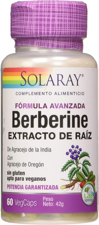 Solaray Berberine | Fórmula avanzada | Berberina | 60 VegCaps