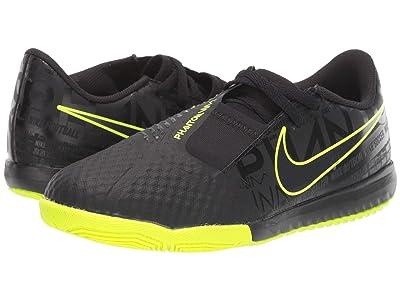 Nike Kids Jr. Phantom Venom Academy IC (Toddler/Little Kid/Big Kid) (Black/Black/Volt) Kids Shoes