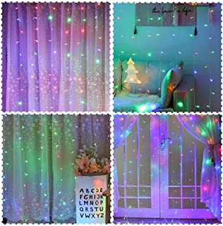 Twinkle Star 300 LED Window Curtain String Light for Chritmas Wedding Party Home Garden Bedroom Outdoor Indoor Decoration, Multicolor