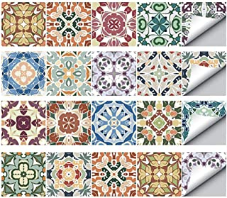 TONGXU 20PCS Autoadhesivo Azulejos Decorativos DIY Etiqueta