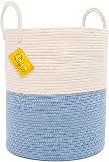 OrganiHaus XL Extra Large Cotton Rope Basket   15x18