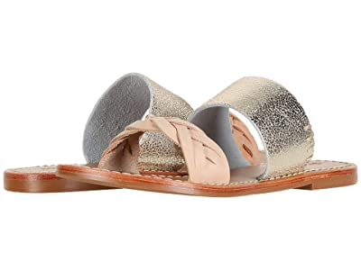 Soludos Metallic Braided Slide Sandal (Nude/Pale Gold) Women