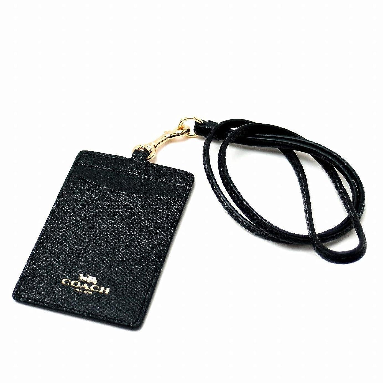 人バッグポルトガル語[コーチ] COACH カードケース ネックストラップ IDケース パスケース 定期入れ ブラック 黒 57311IMBLK [アウトレット品] [並行輸入品]
