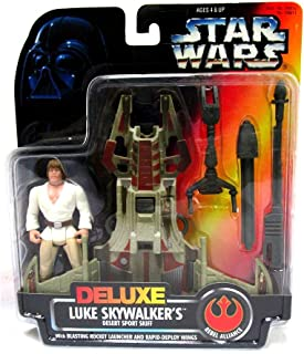 Star Wars Power of the Force Orange Card Deluxe Luke Skywalker and Desert Sport Skiff 3.75 Inches