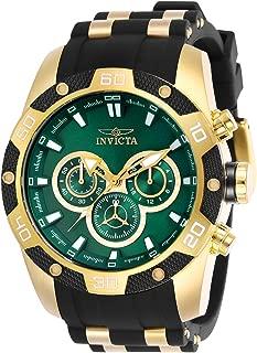 Invicta Men's Speedway Quartz Watch with Stainless Steel Strap, Black, 26 (Model: 25837)