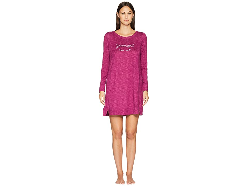 Kate Spade New York Cozy Knit Sleepshirt (Plum) Women