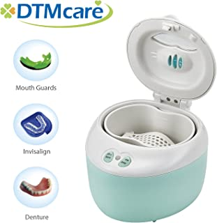 DTMCare Denture, Dental Cleaner UV (Blue color) Ultrasonic Sterilization for Denture, Mouth Guard, Invisalign, Retainer. Snore Guard Sleep Retainer. FDA Registered/CE Medical Approved.