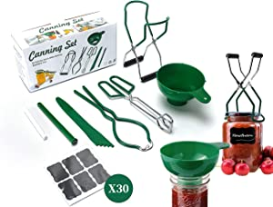 Canning Kit, Canning Supplies for 37 PCS Kitchen, Durable and Comfortable PP + Stainless Steel Material, Non-Slip and Easy to Control When in Use, A Good Set of Canning Accessories Equipment.