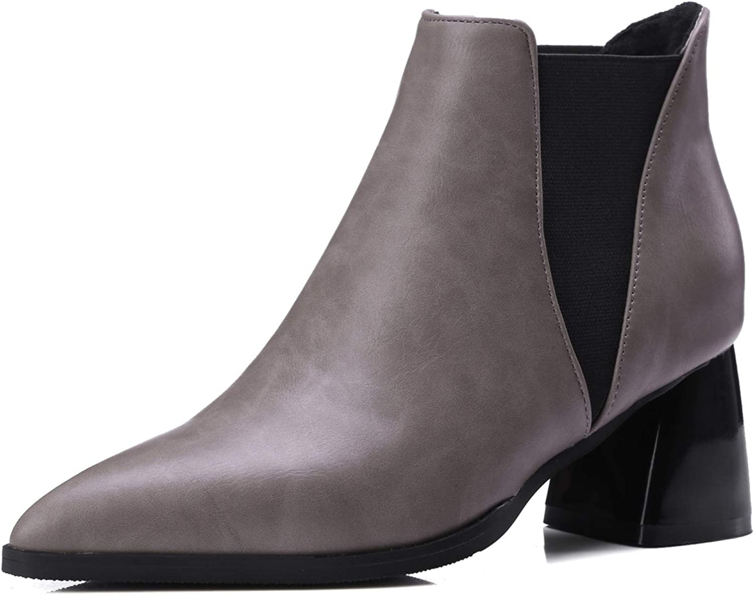 Women Western Chelsea Ankle Bootie Stacked Boot 100% quality warranty Pointed Toe Heel Classic