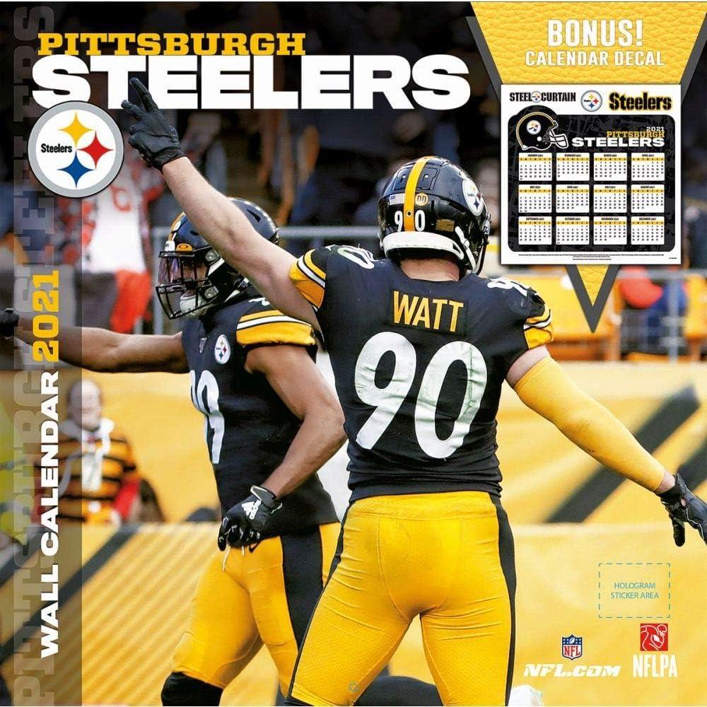 Turner Licensing 2021 NFL Pittsburgh Wall Bonus New York Mall Steelers Elegant Calend