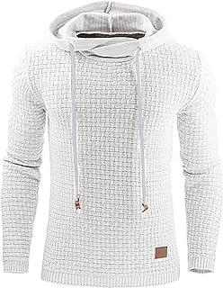 Mens Pullover Hoody Hoodie Sweatshirts Thin Jacquard Jumpers Long Sleeve Casual Hooded Top M-3XL