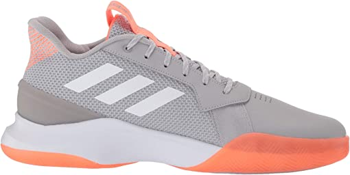 Grey Two/Footwear White/Signal Coral