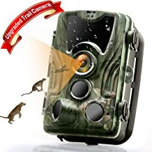 MTFY Trail Game Camera, HD 16MP 1080P Hunting Camera with Night Vision Motion Activated Up to 80ft, Low Glow Waterproof Wildlife Camera for for Outdoor, Garden, Animal Scouting & Home Security
