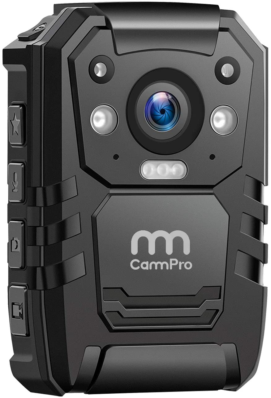 1296P HD Police Body Camera,32G Memory,CammPro Premium Portable Body Camera,Waterproof Body-Worn Camera with 2 Inch Display,Night Vision,GPS for Law Enforcement Recorder,Security Guards,Personal Use